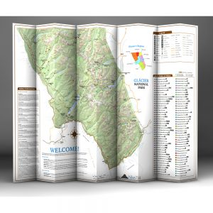 Day Hikes of Glacier National Park Map Guide Back