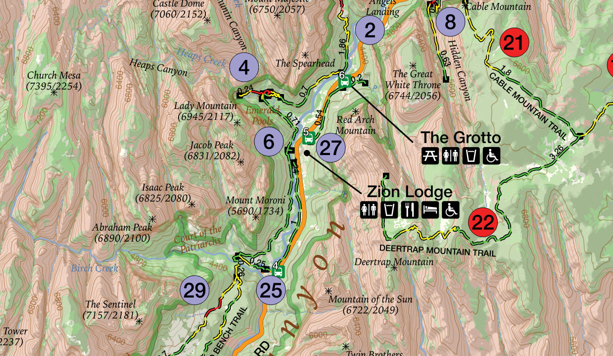 GPS Tracks for Zion National Park on