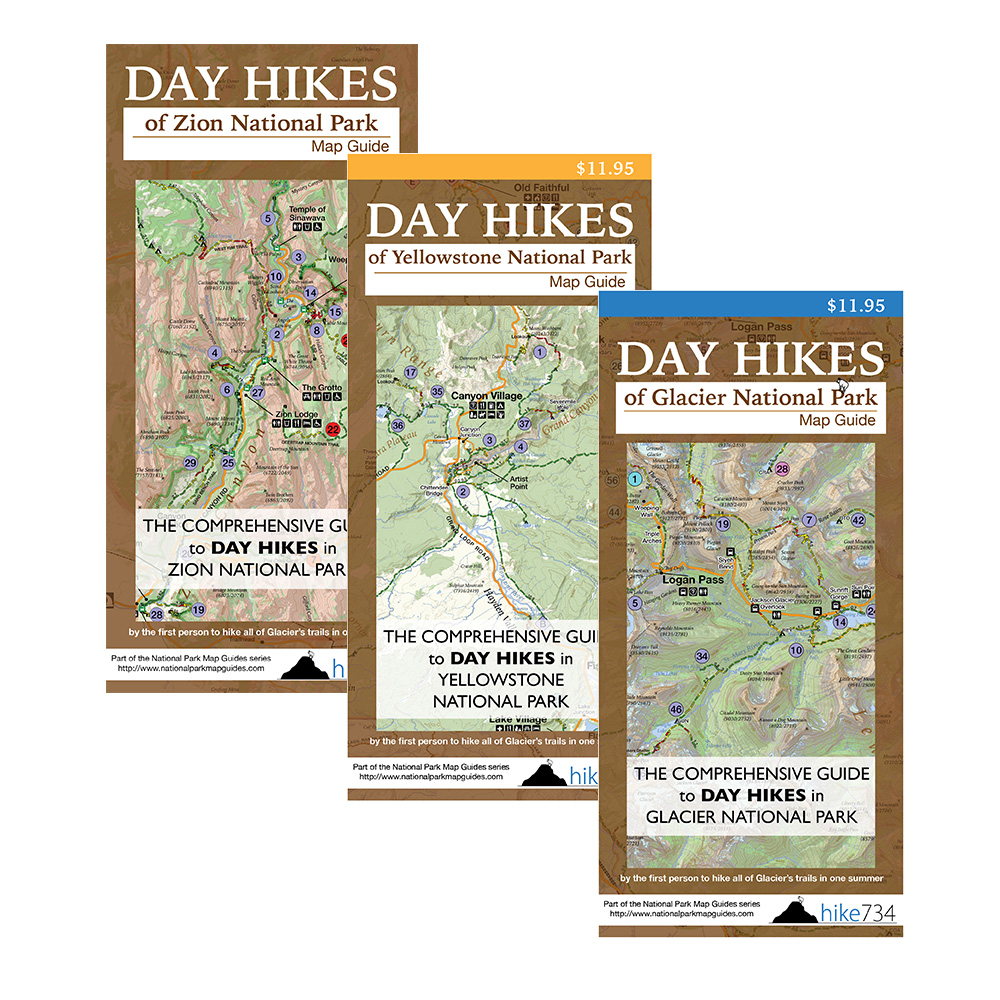 Day Hikes Map Bundle (mix and match) - Hike 734 on