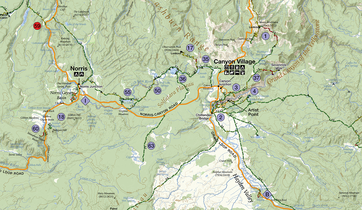GPS Tracks for Yellowstone National Park