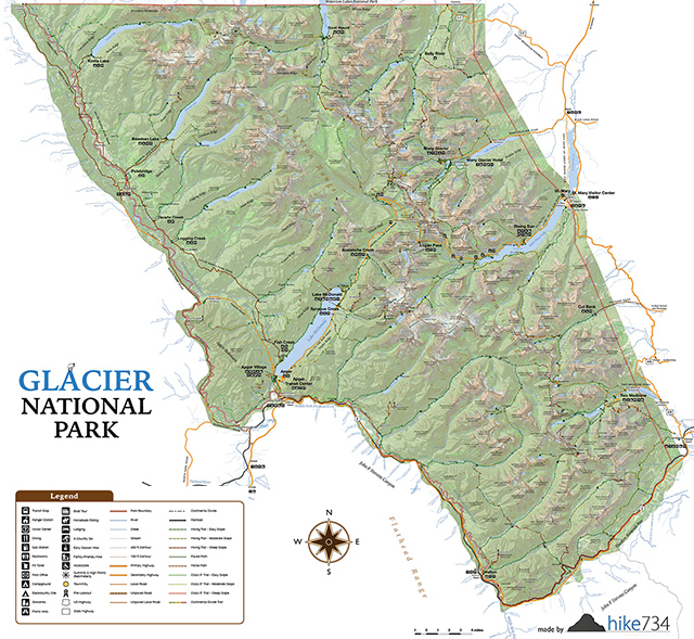 Glacier National Park Interactive Map on