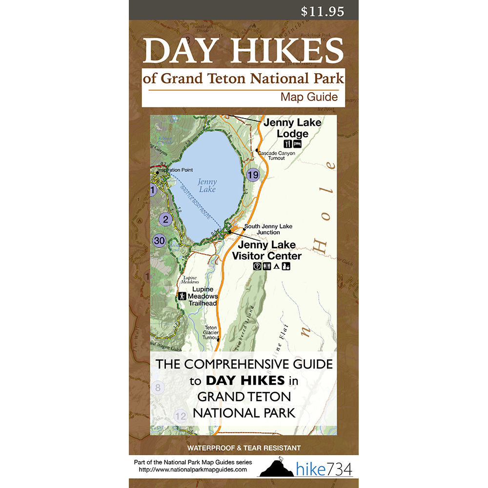 Day Hikes of Grand Teton National Park Map Guide
